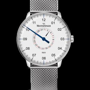 Neo Plus Pointer Date Opaline silver